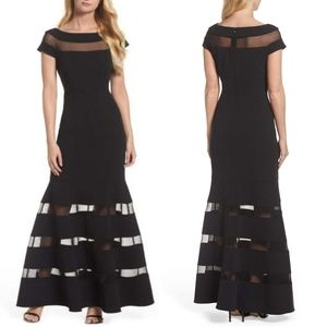 VINCE CAMUTO ILUISON STRIP THUMPET GOWN